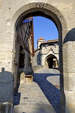 Spitalbastei or Spitaltor (Spital Bastion or Gate), Rothenburg ob der Tauber, Bavaria (Bayern), Germany, Europe