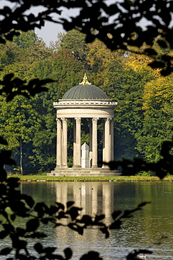Pavilion or folly in the grounds of Schloss Nymphenburg, Munich (Munchen), Bavaria (Bayern), Germany, Europe
