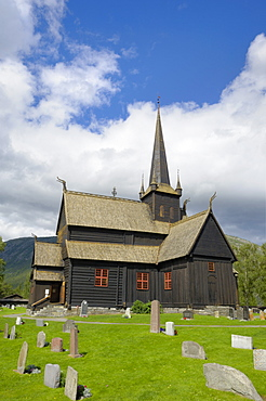 Lom stave church, Lom, Oppland, Norway, Scandinavia, Europe