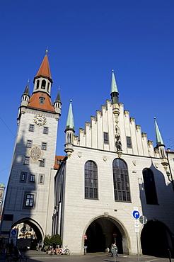 Altes Rathaus (Old Town Hall), Marienplatz, Munich (Munchen), Bavaria (Bayern), Germany, Europe