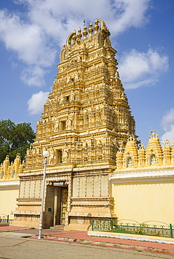 Hindu temple at Mysore Palace, Mysuru, Karnataka, India, South Asia
