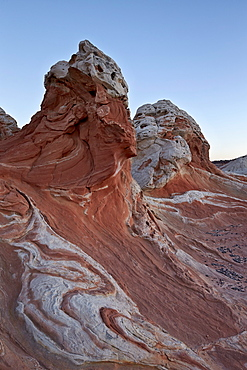 White and pink sandstone formations, White Pocket, Vermilion Cliffs National Monument, Arizona, United States of America, North America