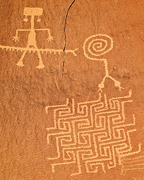 Petroglyphs, Coyote Buttes Wilderness, Vermilion Cliffs National Monument, Arizona, United States of America, North America