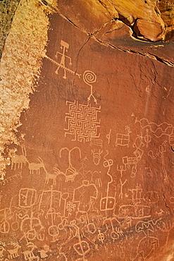 Petroglyphs, Vermilion Cliffs National Monument, Arizona, United States of America, North America