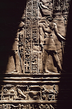 Interior, temple at Esna, Egypt, North Africa, Africa