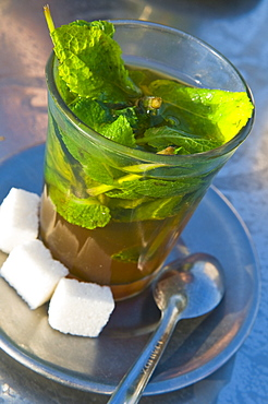 Mint tea, Marrakech, Morocco, North Africa, Africa