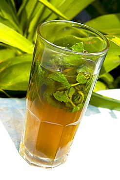 Mint tea, Tangier, Morocco, North Africa, Africa