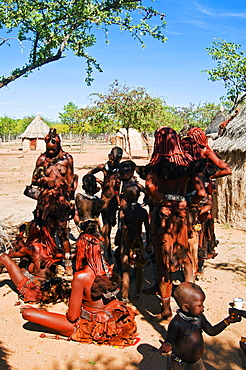 Himba people, Kaokoveld, Namibia, Africa