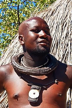 Himba man, Kaokoveld, Namibia, Africa