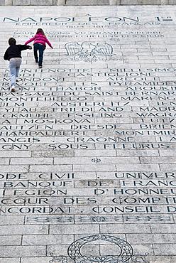 Names of battles fought by Napoleon, Memorial to Napoleon in Place du Casone, Ajaccio, Corsica, France, Europe