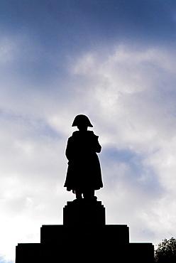 Statue of Napoleon, Memorial to Napoleon in Place du Casone, Ajaccio, Corsica, France, Europe