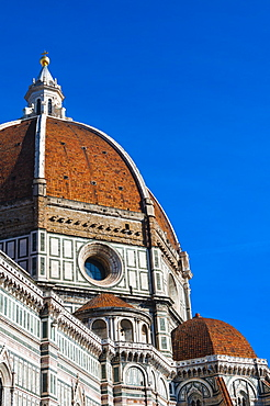 The dome of Brunelleschi, Santa Maria del Fiore, Piazza del Duomo, UNESCO World Heritage Site, Florence (Firenze), Tuscany, Italy, Europe