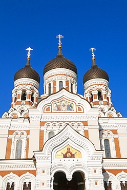 Russian Orthodox Alexander Nevsky cathedral in Toompea, Old Town, UNESCO World Heritage Site, Tallinn, Estonia, Baltic States, Europe