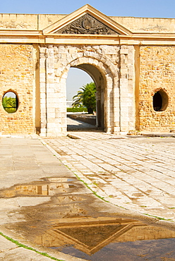 Ottoman monumental gate, La Goulette, Tunisia, North Africa, Africa