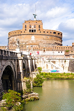 Castel Sant'Angelo, Ponte Sant'Angelo and Tiber River, UNESCO World Heritage Site, Rome, Lazio, Italy, Europe