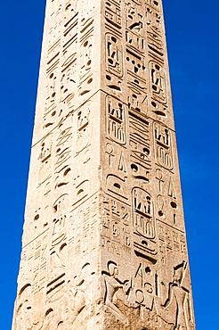 Egyptian obelisk of Ramesses II, Piazza del Popolo, Rome, Lazio, Italy, Europe