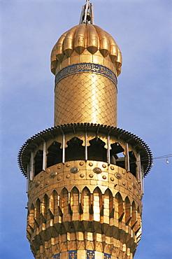 Minaret, Kadoumia mosque, Baghdad, Iraq, Middle East