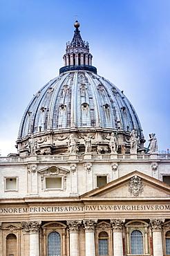 St. Peter's Dome, UNESCO World Heritage Site, Vatican City, Rome, Lazio, Italy, Europe