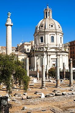 Trajan's Forum, UNESCO World Heritage Site, Rome, Lazio, Italy, Europe