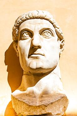 Head of Colossus of Constantine, Musei Capitolini, Capitoline Hill, UNESCO World Heritage Site, Rome, Lazio, Italy, Europe