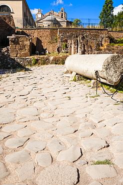 Vicus Jugarius, Roman road, Roman Forum, UNESCO World Heritage Site, Rome, Lazio, Italy, Europe