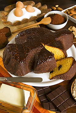 Colomba with chocolate (Italian Easter cake), Italy, Europe