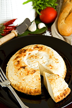 Ricotta al forno (ricotta cheese cooked in the oven), Italy, Europe