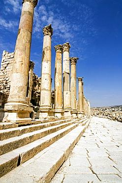 Tha Cathedral, Jerash (Gerasa) a Roman Decapolis city, Jordan, Middle East