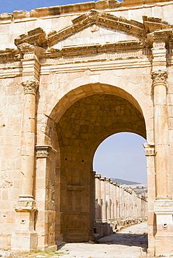 North Gate, Jerash (Gerasa) a Roman Decapolis city, Jordan, Middle East