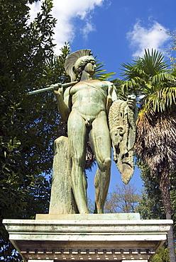 Statue of Warrior in Thorvalosen Square, Rome, Lazio, Italy, Europe