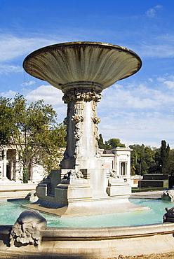 Fountain in Argan's Esedra, Rome, Lazio, Italy, Europe