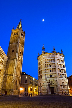 The Duomo and the Baptistry, Parma, Emilia Romagna, Italy, Europe