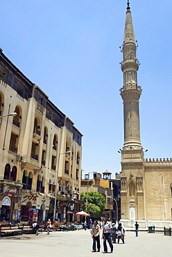 El Hussein Square and Mosque, Cairo, Egypt, North Africa, Africa - 765-739