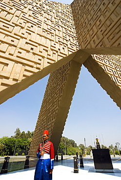 Unknown Soldier Memorial and Anwar Sadat Tomb, Nasser City, Cairo, Egypt, North Africa, Africa - 765-777