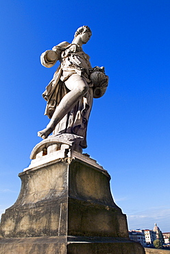 Statue of the Spring, Ponte Santa Trinita, Florence (Firenze), Tuscany, Italy, Europe
