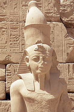 Statue of the pharaoh Ramses II, Karnak Temple, Thebes, UNESCO World Heritage Site, Egypt, North Africa, Africa