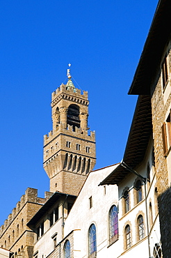 The Tower of Arnolfo (Palazzo Vecchio), Florence (Firenze), Tuscany, Italy, Europe