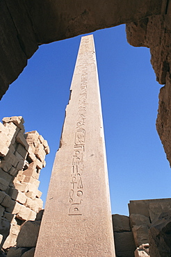 The obelisk of Queen Hatshepsut, Temple of Karnak, Thebes, UNESCO World Heritage Site, Egypt, North Africa, Africa