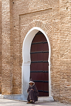 Main gate to of the Koutoubia Mosque, Marrakech (Marrakesh), Morocco, North Africa, Africa