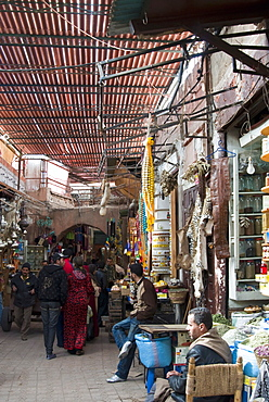 The Souk, Medina, Marrakech (Marrakesh), Morocco, North Africa, Africa