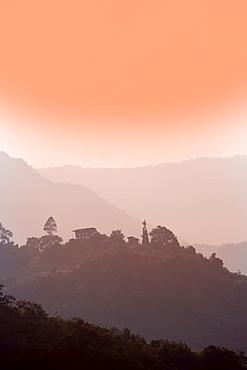 Thimphu Chhu (river) Valley, Bhutan, Himalayas, Asia