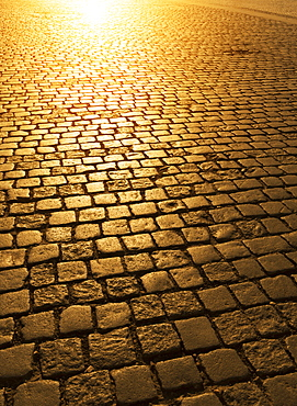 Cobblestones, Prague. Czech Republic, Europe