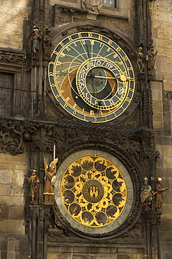 Astronomical clock, Old Town Hall, Prague, Czech Republic, Europe