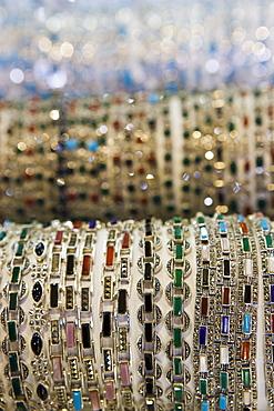 Bracelets for sale, Grand Bazaar (Great Bazaar), Istanbul, Turkey, Europe
