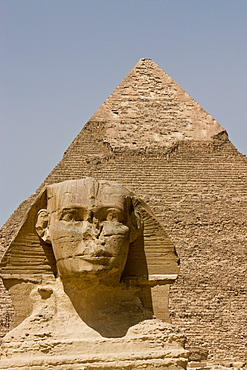 The Sphinx and the Pyramid of Khafre in Giza, UNESCO World Heritage Site, near Cairo, Egypt, North Africa, Africa