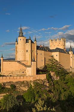 The dramatic fairy-tail towers of the Alcazar of Segovia, Castilla y Leon, Spain, Europe
