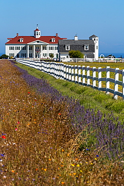 The historic George Washington Inn, a Bed and Breakfast, between Sequim and Port Angeles near Olympic National Park, Washington State, United States of America, North America