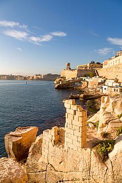 Fisherman huts at the Grand Harbour in Valletta, Malta, Mediterranean, Europe