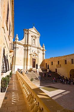 The Catedral de Rabat in the ancient citadel of Victoria (Rabat) in the heart of Gozo, Malta, Mediterranean, Europe