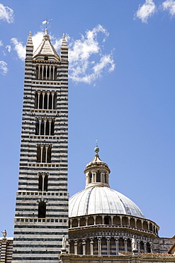 Campanile and Dome of Duomo, Sienna, Tuscany, Italy
